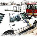 Philadelphia Police Car Poster by Paul and Fe Photography Messenger