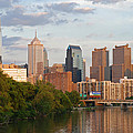 Philly summer skyline Print by Jennifer Lyon