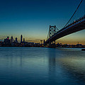 Philly Sunset Print by David Hahn