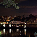 Philly Waterworks at Night Print by Bill Cannon