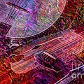 Pickin and a Grinnin Digital Banjo and Guitar Art by Steven Langston Print by Steven Lebron Langston