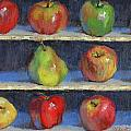 Picking Apples Print by Donna Shortt