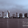 Picture of San Diego Skyline at Night Poster by Paul Velgos