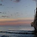 Pier Panorama at Sunrise  Print by Michael Thomas