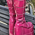 Pink Boots Print by Jasna Buncic