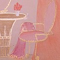 Pink Boudoir Chair Poster by Christine Corretti