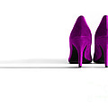 Pink High Heel Shoes Poster by Natalie Kinnear