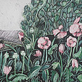 Pink Poppies Print by Grace Keown