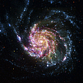 Pinwheel Galaxy Rainbow Print by Adam Romanowicz