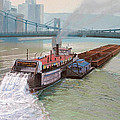 Pittsburgh River Boat-1948 Print by Paul Krapf