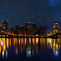 Pittsburgh Skyline 2 Poster by  Fli Art