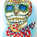 Pizza Sugar Skull Poster by Heather Calderon
