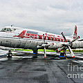 Plane Props on Capital Airlines Print by Paul Ward