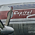 Plane Vintage Capital Airlines Print by Paul Ward
