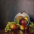 Plate with Fruit Poster by Nicolas Bouteneff