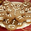 Plateful of Gingerbread Cookies Print by Juli Scalzi