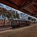 platform view of the first railway station of Tel Aviv Print by Ron Shoshani