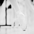 pointed toe in ballet slippers at a ballet school in the uk Print by Joe Fox