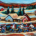 POND HOCKEY 2 Print by CAROLE SPANDAU