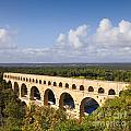 Pont du Gard Roman Aqueduct Languedoc Roussillon France Poster by Colin and Linda McKie