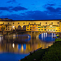 Ponte Vecchio Reflection Poster by Inge Johnsson