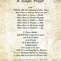 Pope Francis St. Francis SIMPLE PRAYER Butterfly Garden Print by Claudette Armstrong