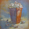 Popped Corn Poster by Donna Shortt