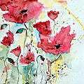 Poppies 05 Print by Ismeta Gruenwald
