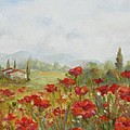 Poppies Print by Chris Brandley