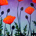 Poppies In The Sky II Poster by John  Nolan