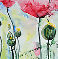 Poppies Print by Ismeta Gruenwald