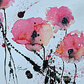 Poppies- painting Print by Ismeta Gruenwald