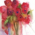 Poppies Print by Sherry Harradence
