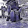 Porch Pickin Print by Bartz Johnson