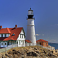Portland Head Light Print by Joann Vitali