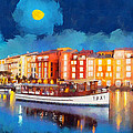 Portofino by night Poster by George Rossidis