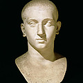 Portrait bust of Emperor Severus Alexander Print by Anonymous
