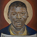 Portrait of a Saint IV Poster by Sharon Norwood