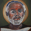 Portrait of a Saint V Print by Sharon Norwood