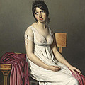 Portrait of a Young Woman in White Print by Jacques Louis David
