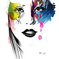 portrait of colors   Print by Mark Ashkenazi