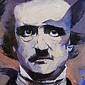 Portrait of Edgar Allan Poe Print by Michael Creese