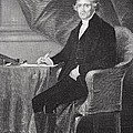 Portrait of Thomas Jefferson Poster by Alonzo Chappel