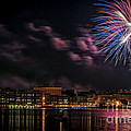 Portsmouth NH Fireworks 2013 Print by Scott Thorp
