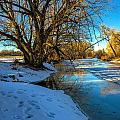 Poudre River Ice Print by Baywest Imaging