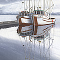 Powell River fishing boats Print by Gary Giacomelli