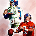 Power Force John Elway Print by Iconic Images Art Gallery David Pucciarelli