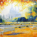 Prague Autumn in the Kralovska Zahrada Print by Yuriy Shevchuk