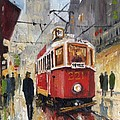 Prague Old Tram 07 Print by Yuriy  Shevchuk