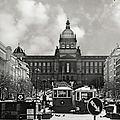 Prague Wenceslas Square and National Museum Print by Christine Till
